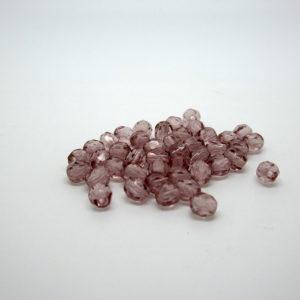 Mezzi cristalli ametista chiaro 4mm