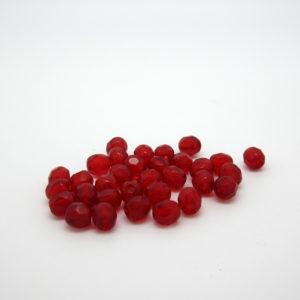 Mezzi cristalli rubino 4mm