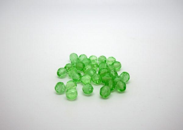 mezzi cristalli verde 4mm