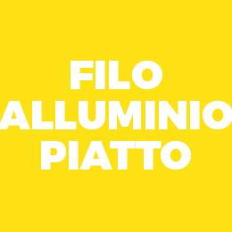 Filo alluminio piatto