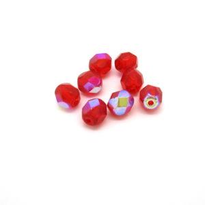 Mezzi cristalli rosso siam 6mm