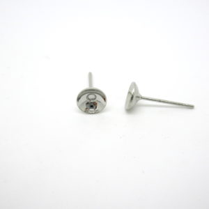 Perni orecchini ottone argento nickel free