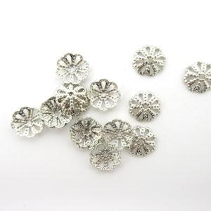 Coppette ottone argento 10mm