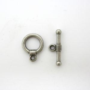Chiusura T-bar ottone argento anticato