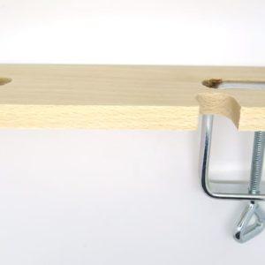 Base legno + morsetto per traforo
